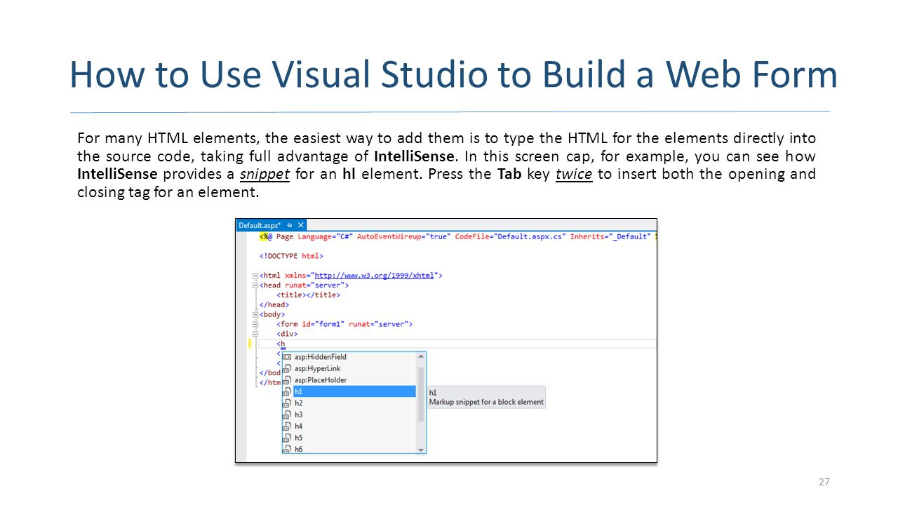 How to Use Visual Studio to Build a Web Form