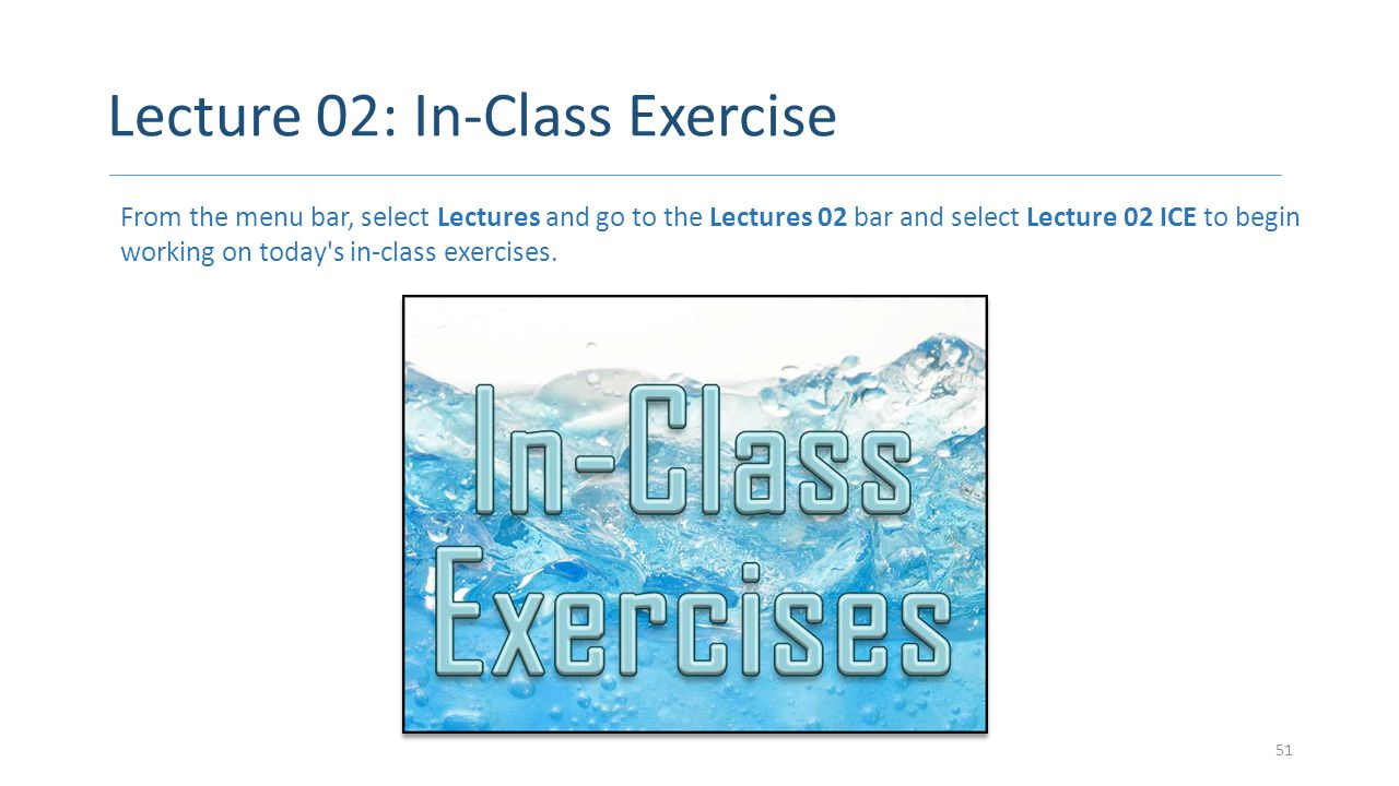 Lecture 02: In-Class Exercise