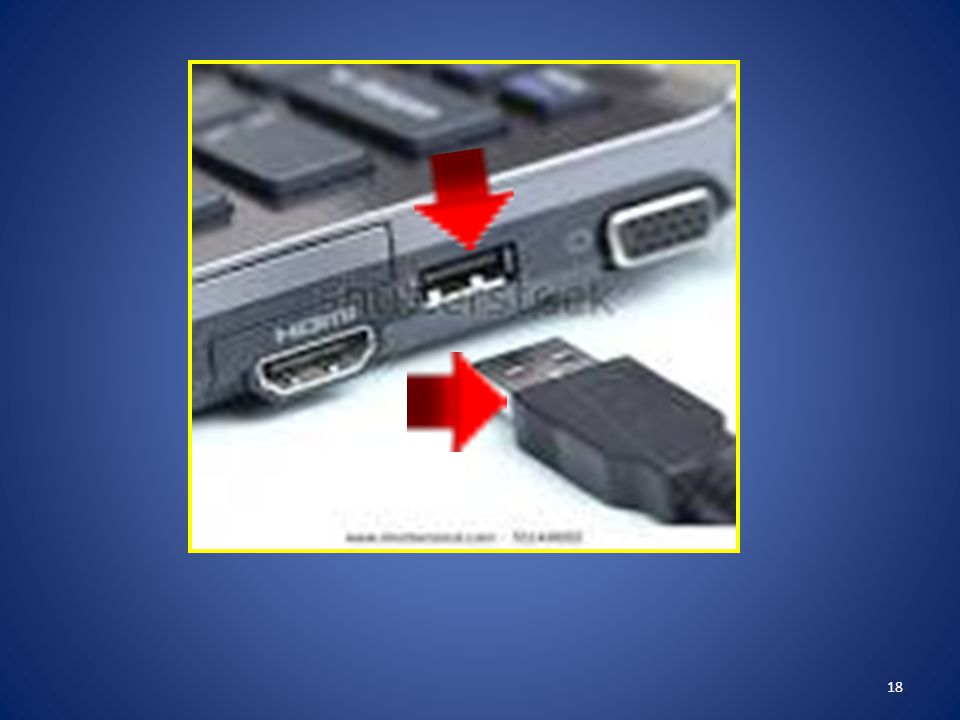 Insert the USB end of the docking station into the USB port on the computer or laptop.