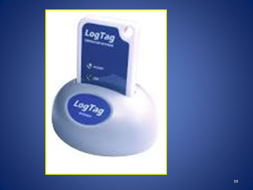 Insert the LogTag into the docking station with the digital screen facing forward, until it clicks.