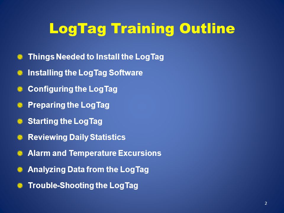 LogTag Training Outline