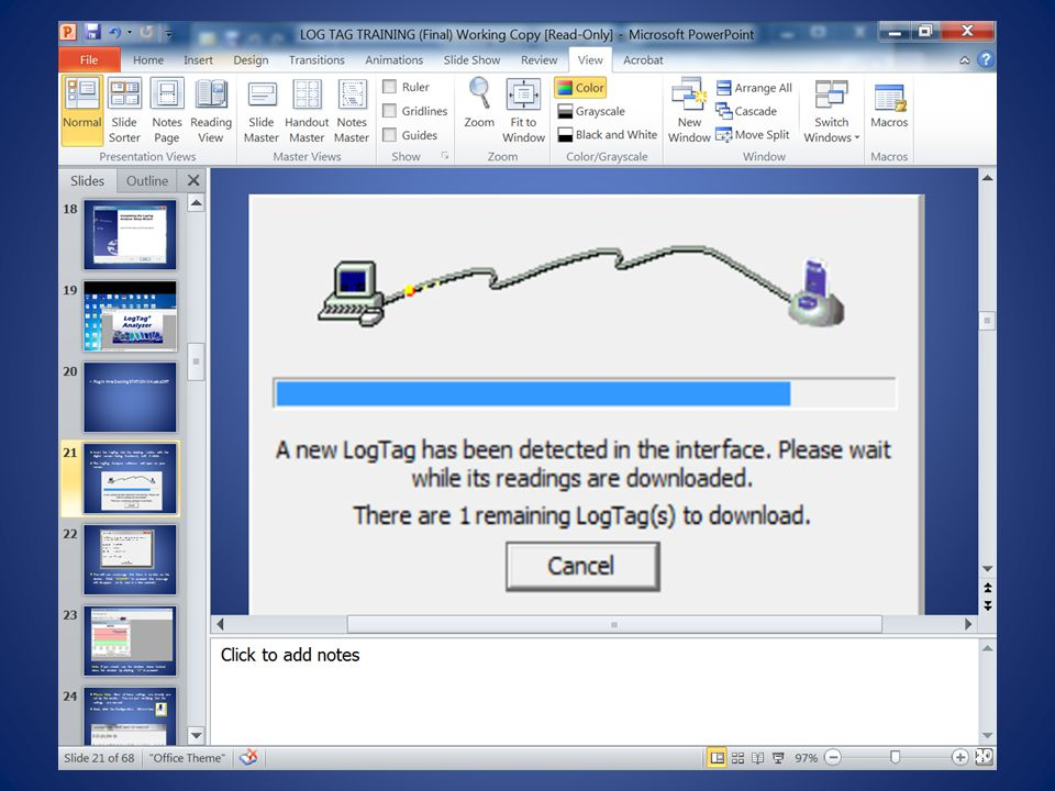 The LogTag Analyzer software will open on your screen