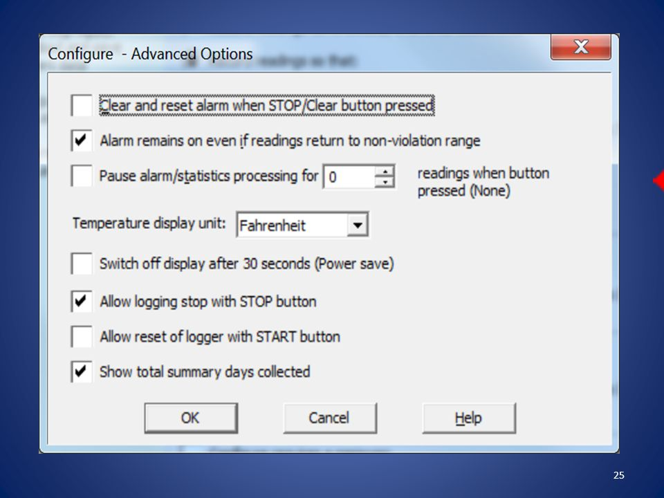 On the Configure – Advanced Options screen – the settings are pre-configured.