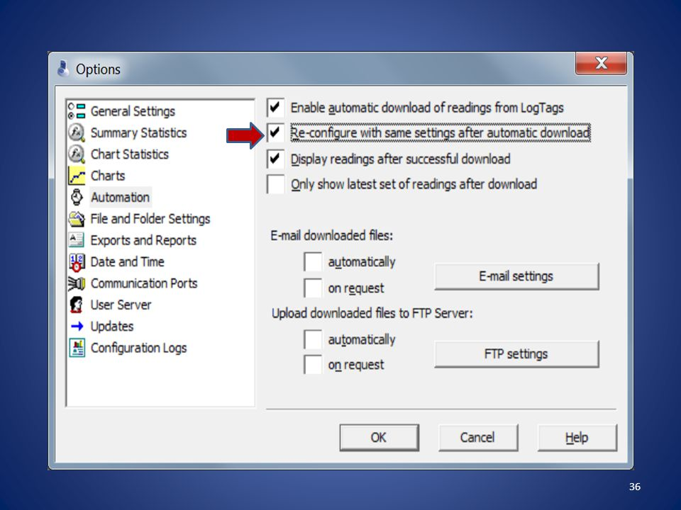 Click the second box Re-configure with same settings after automatic download , then click on OK .