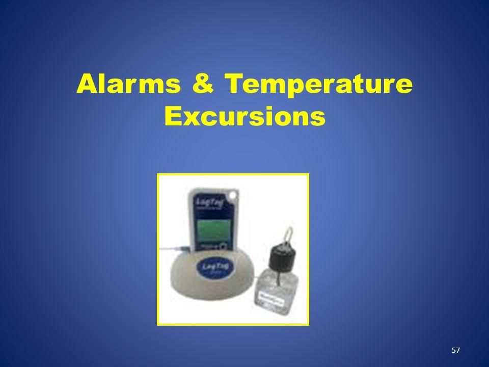 Alarms & Temperature Excursions
