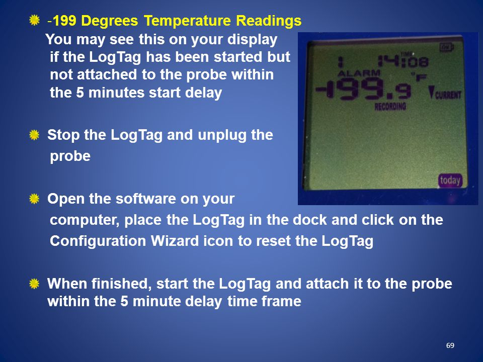 -199 Degrees Temperature Readings