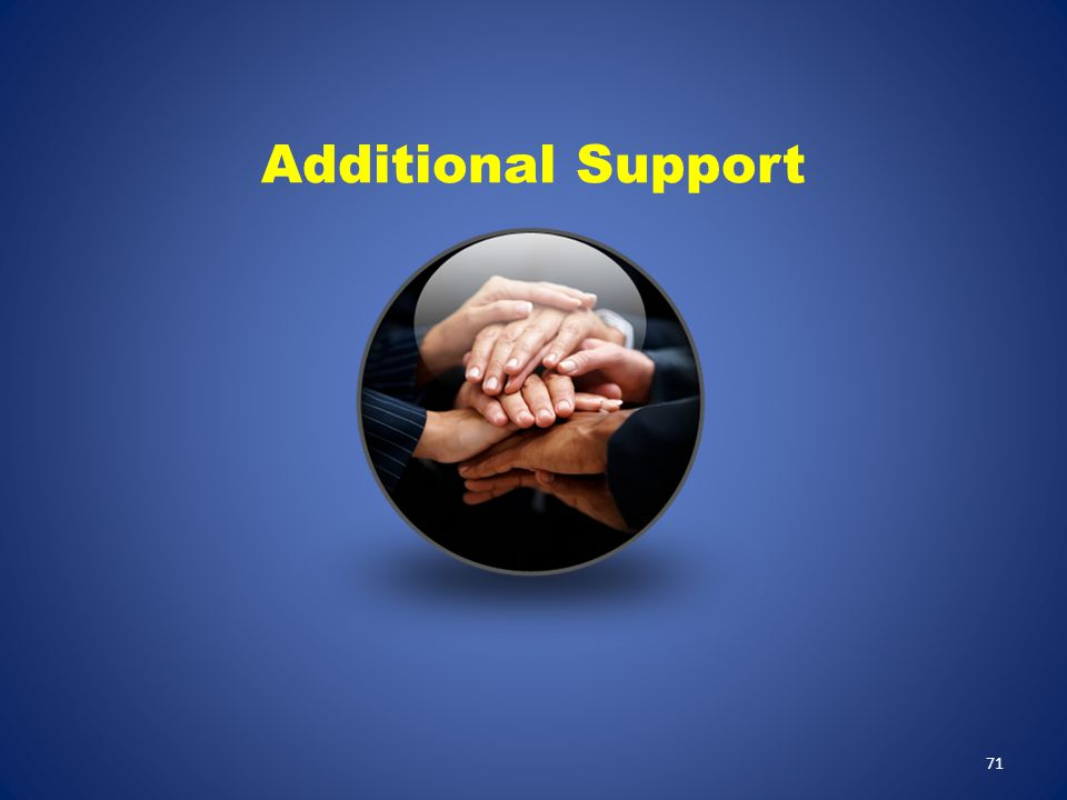 Additional Support Additional Support