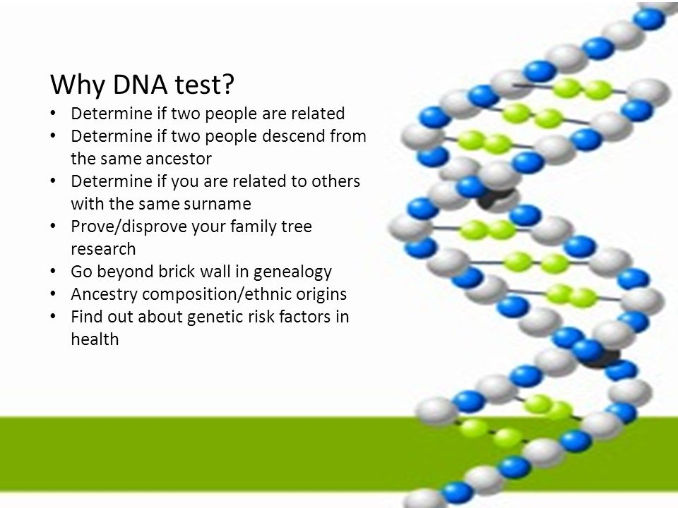 Why DNA test Determine if two people are related