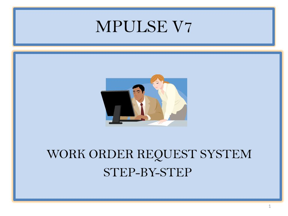 WORK ORDER REQUEST SYSTEM