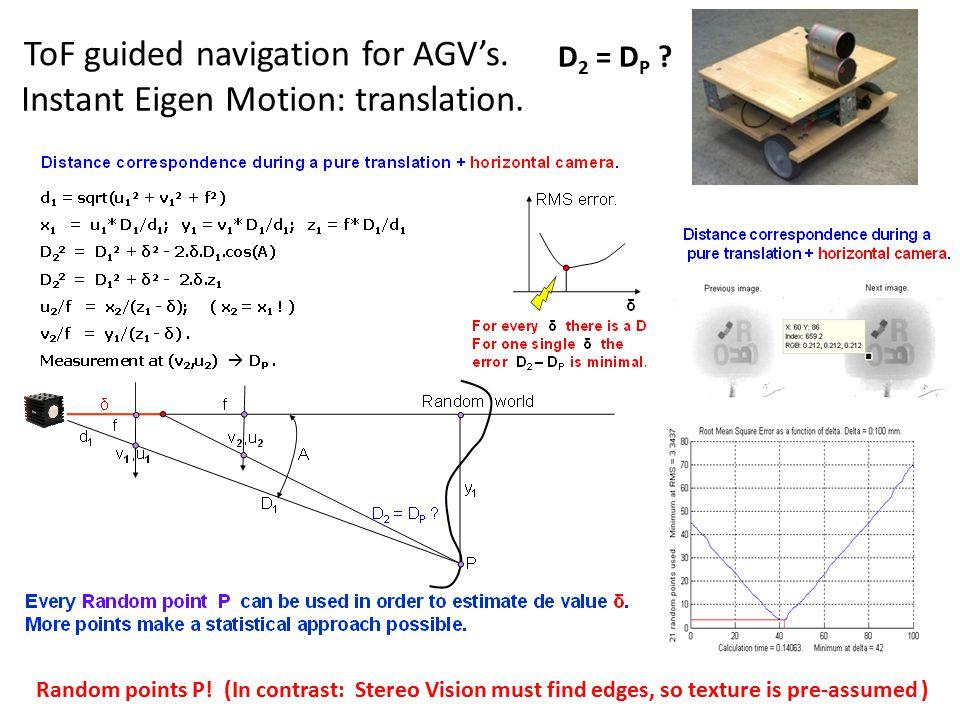 ToF guided navigation for AGV's. Instant Eigen Motion: translation.