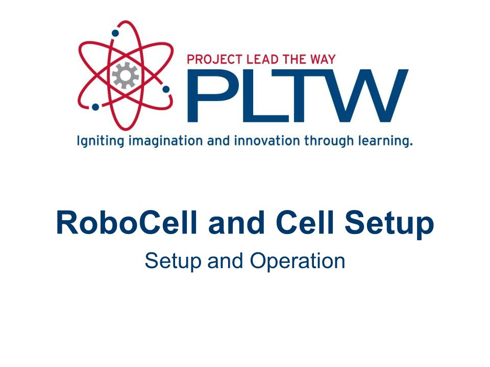 RoboCell and Cell Setup