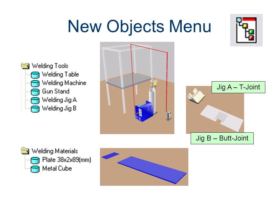 New Objects Menu Machines CIM Machining Jig A – T-Joint