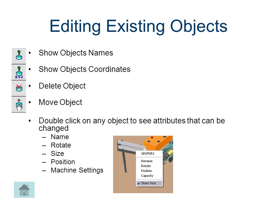 Editing Existing Objects