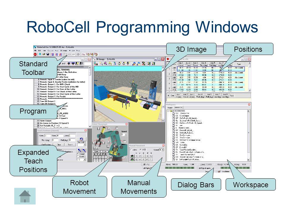 RoboCell Programming Windows