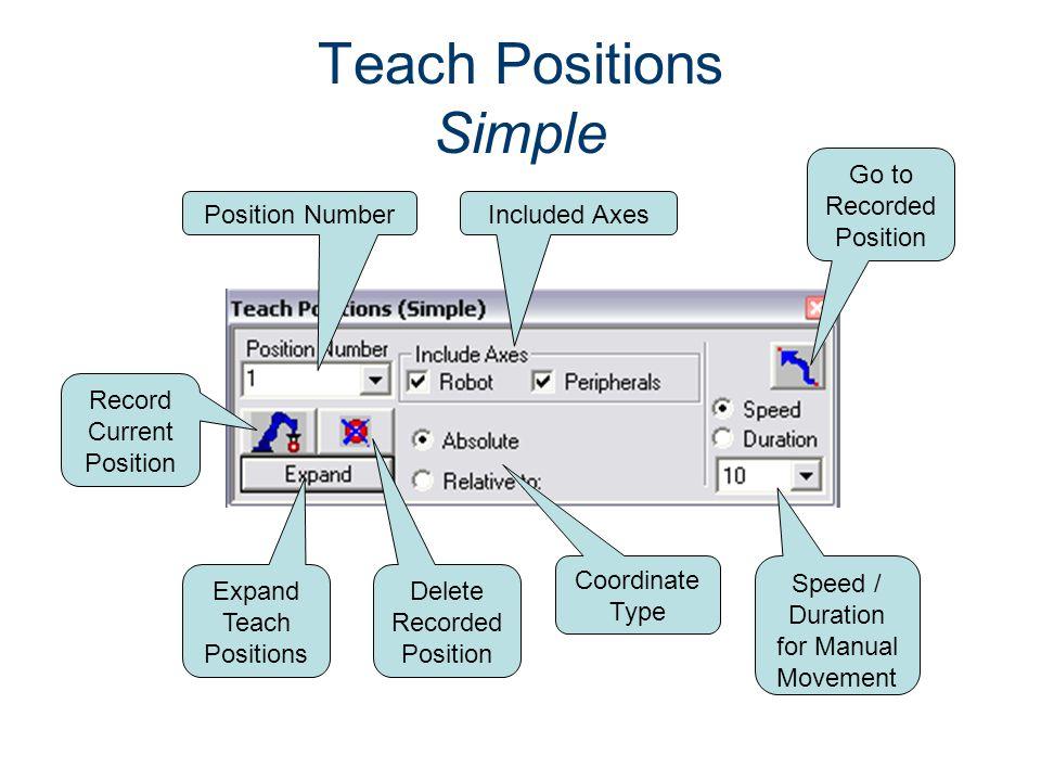Teach Positions Simple