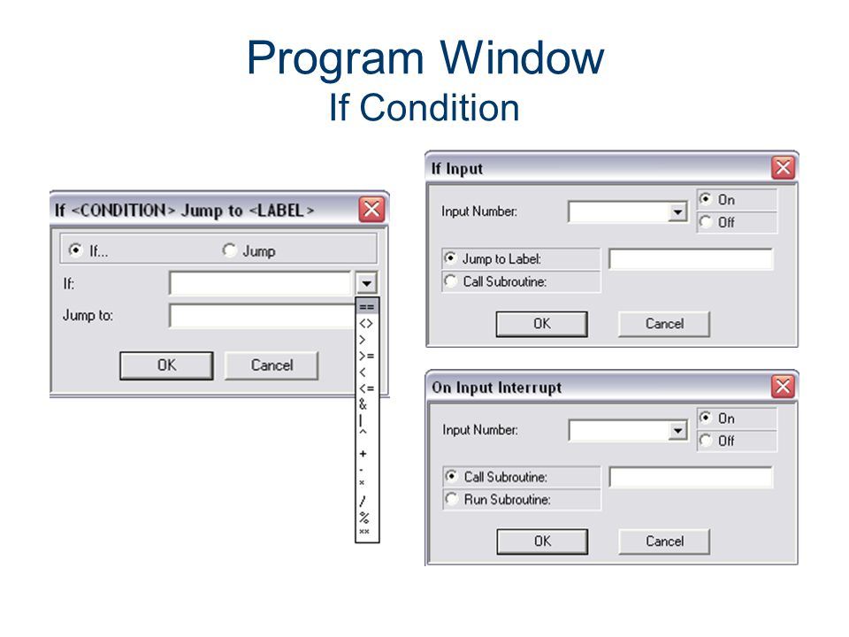 Program Window If Condition