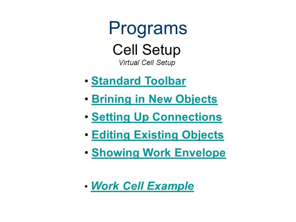 Cell Setup Virtual Cell Setup