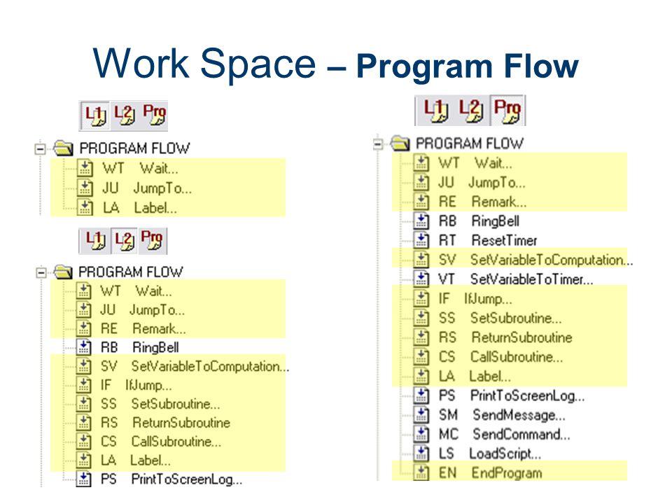 Work Space – Program Flow