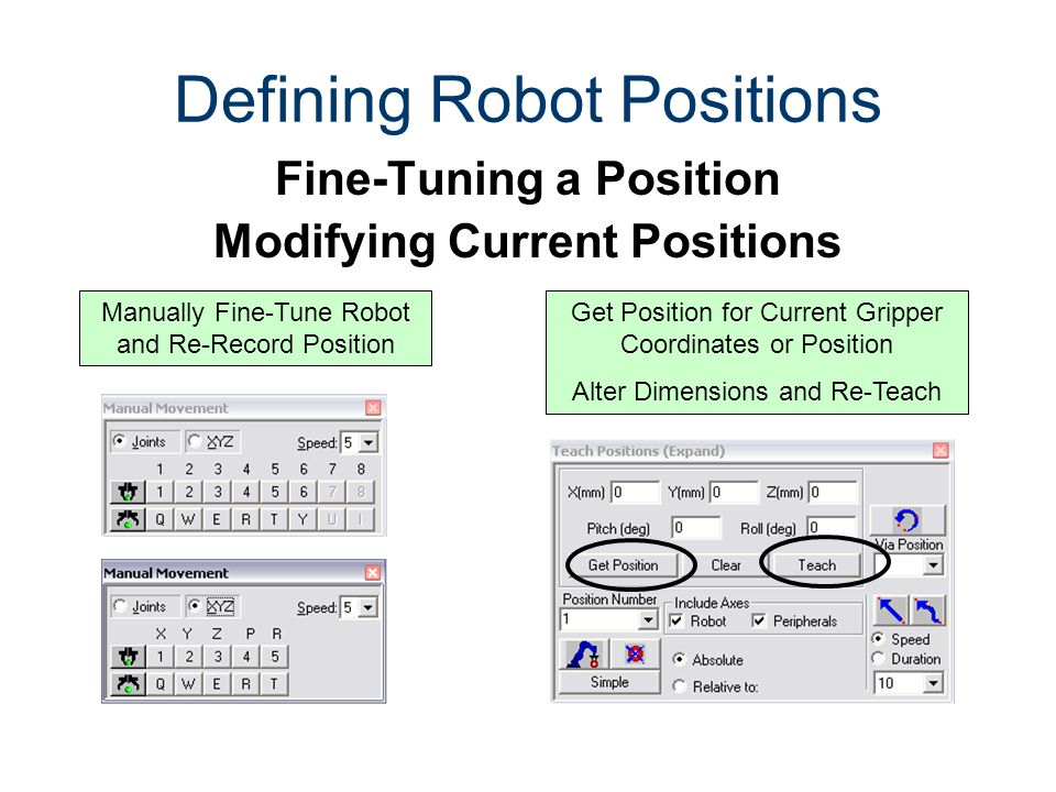 Defining Robot Positions