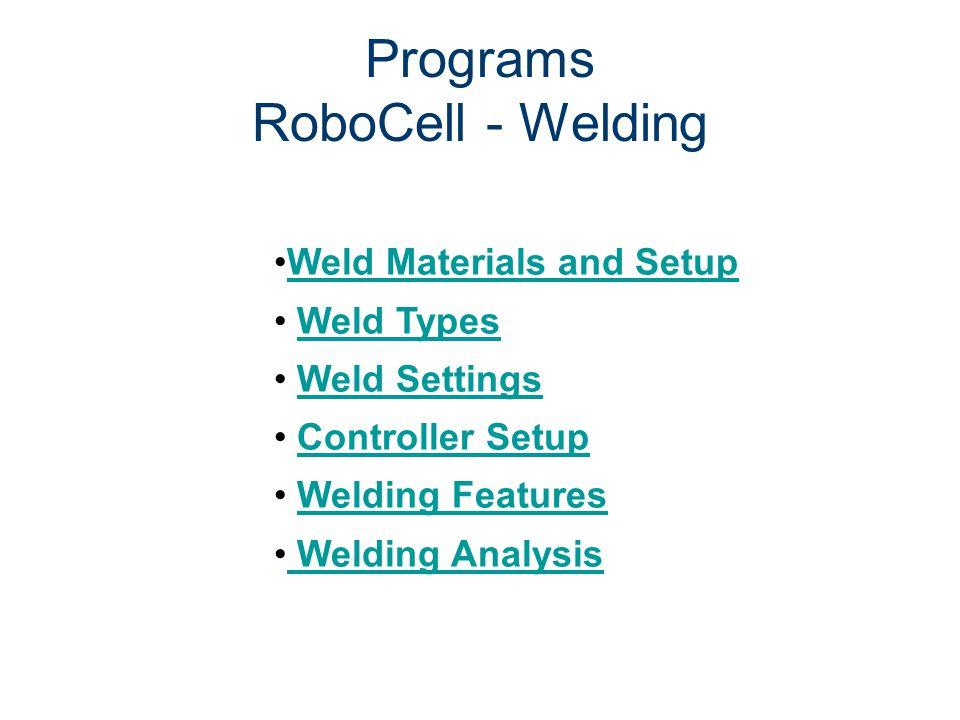 Programs RoboCell - Welding