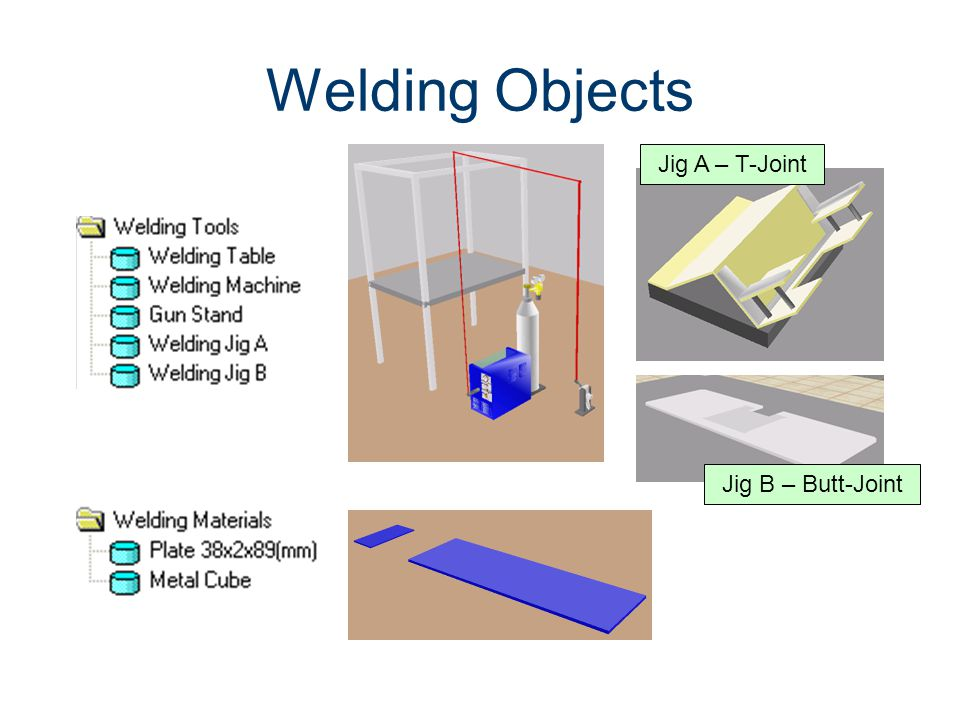 Welding Objects Machines CIM Machining Jig A – T-Joint