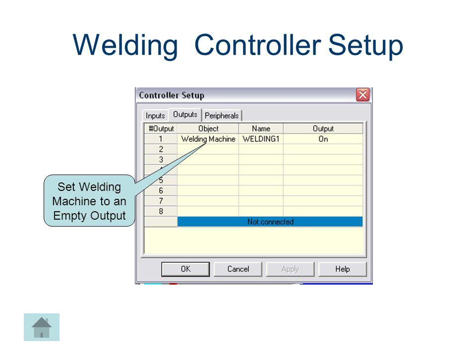 Welding Controller Setup