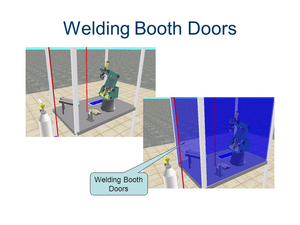 Welding Booth Doors Machines CIM Machining Welding Booth Doors