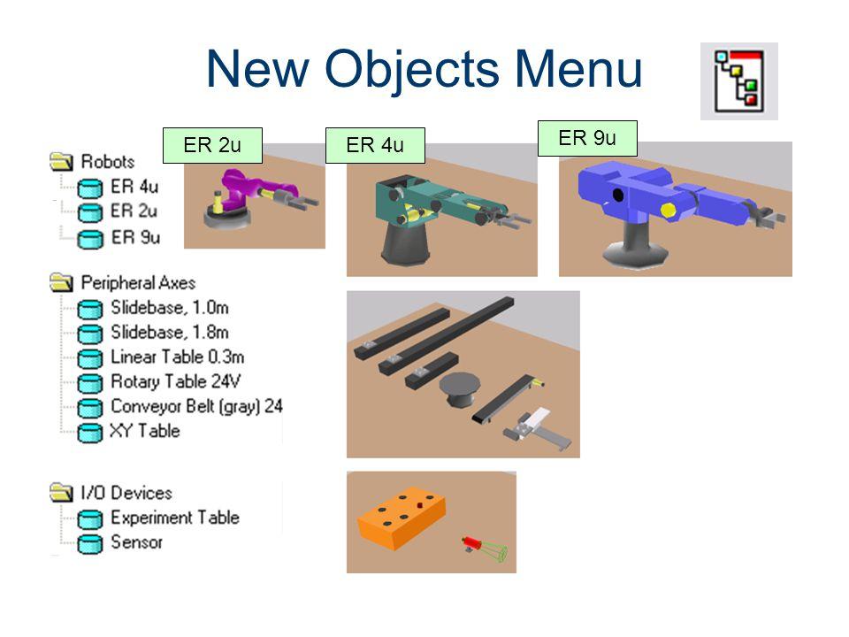 New Objects Menu Machines CIM Machining ER 9u ER 2u ER 4u