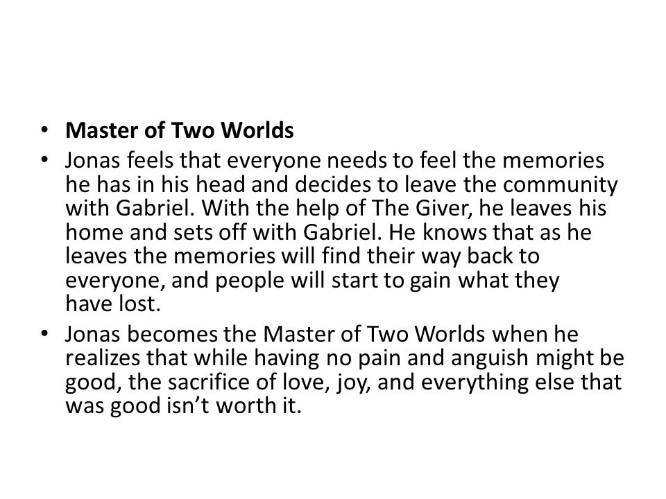 Master of Two Worlds