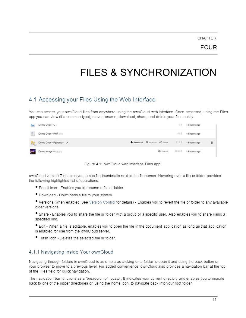 FILES & SYNCHRONIZATION