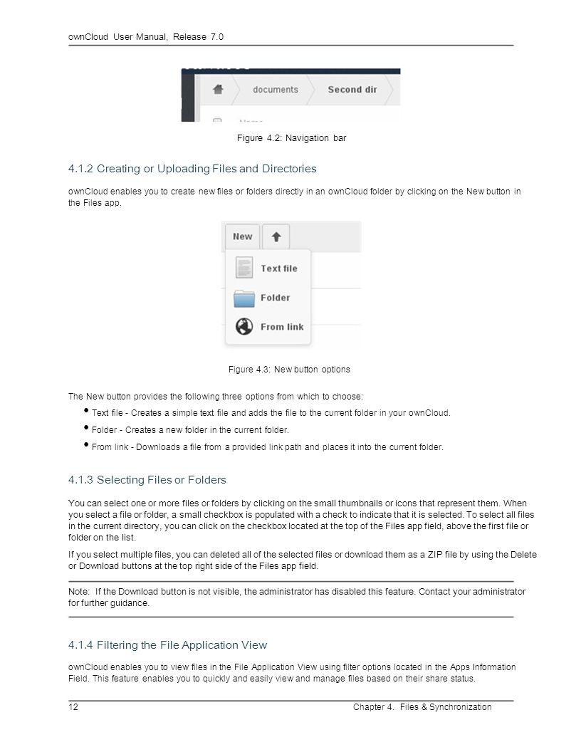 • Folder - Creates a new folder in the current folder.
