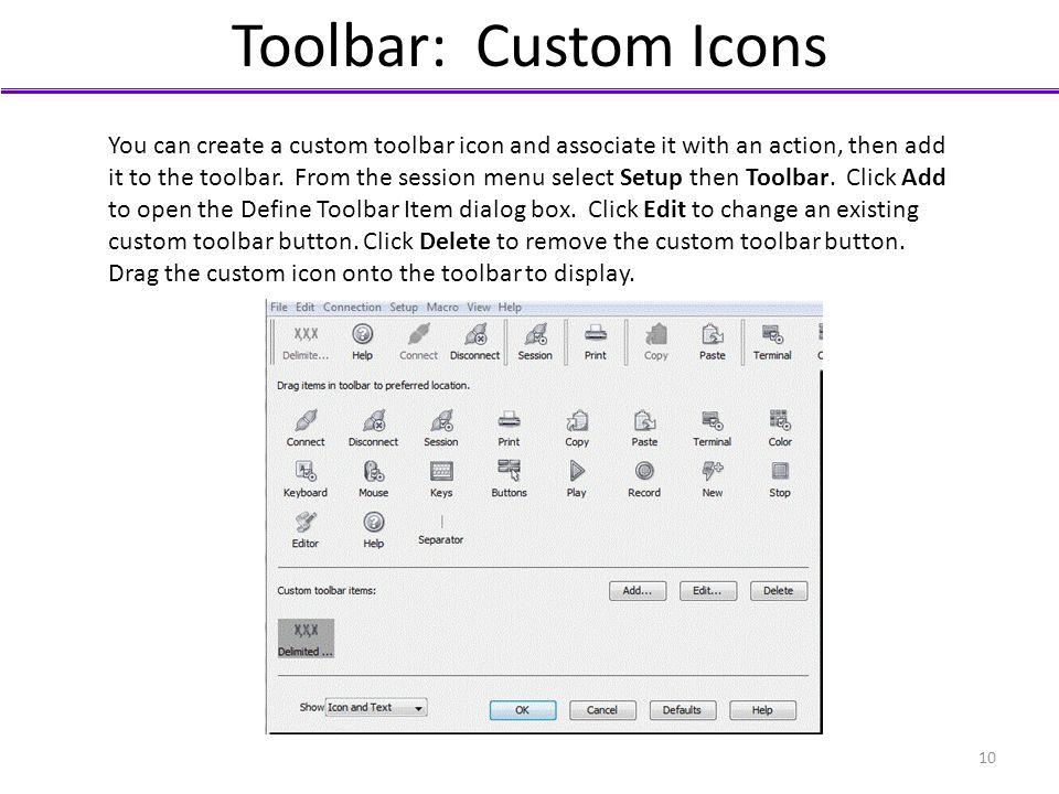 Toolbar: Custom Icons