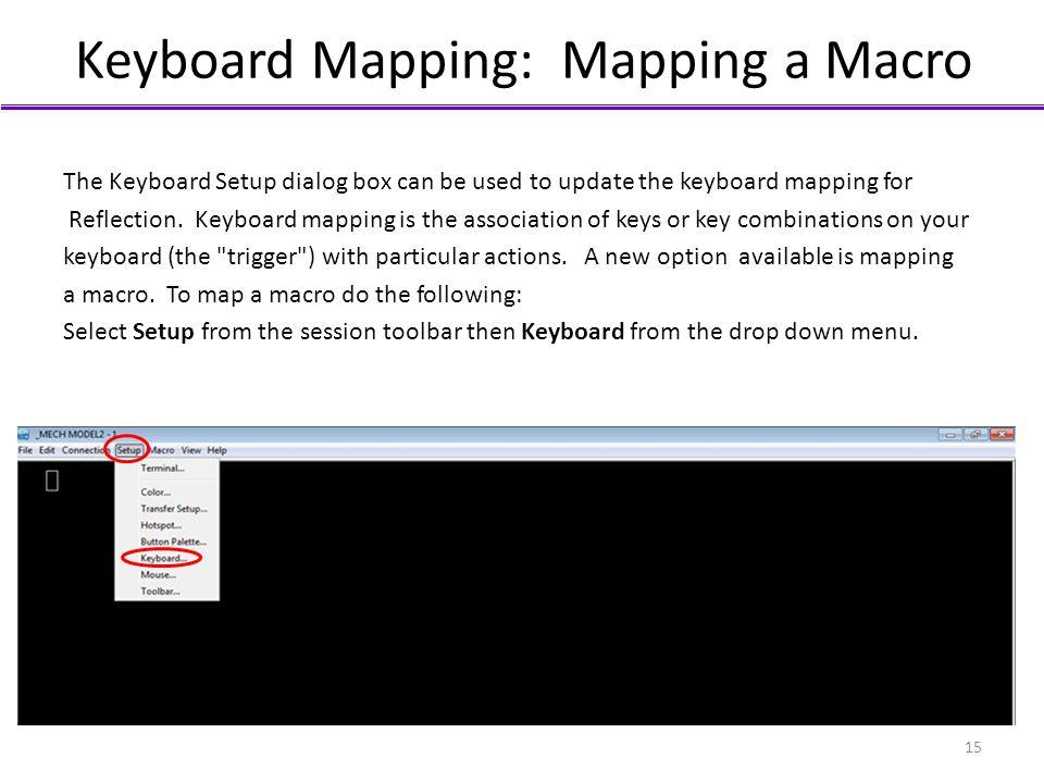 Keyboard Mapping: Mapping a Macro