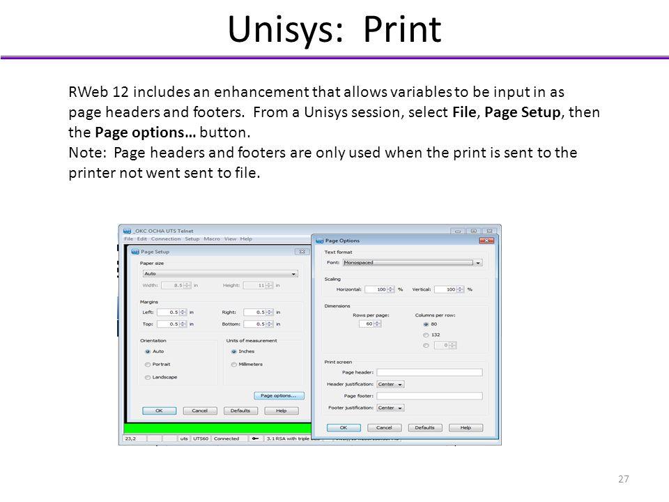 Unisys: Print