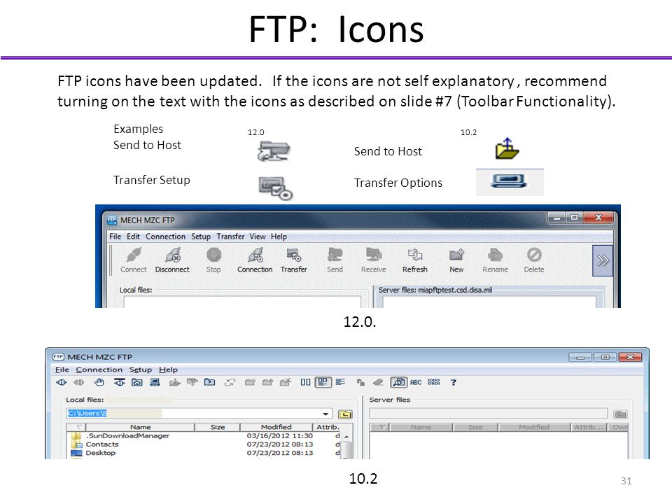 FTP: Icons