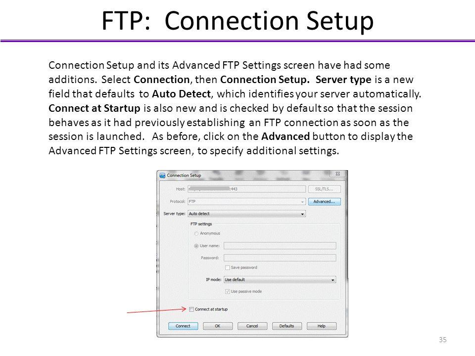 FTP: Connection Setup