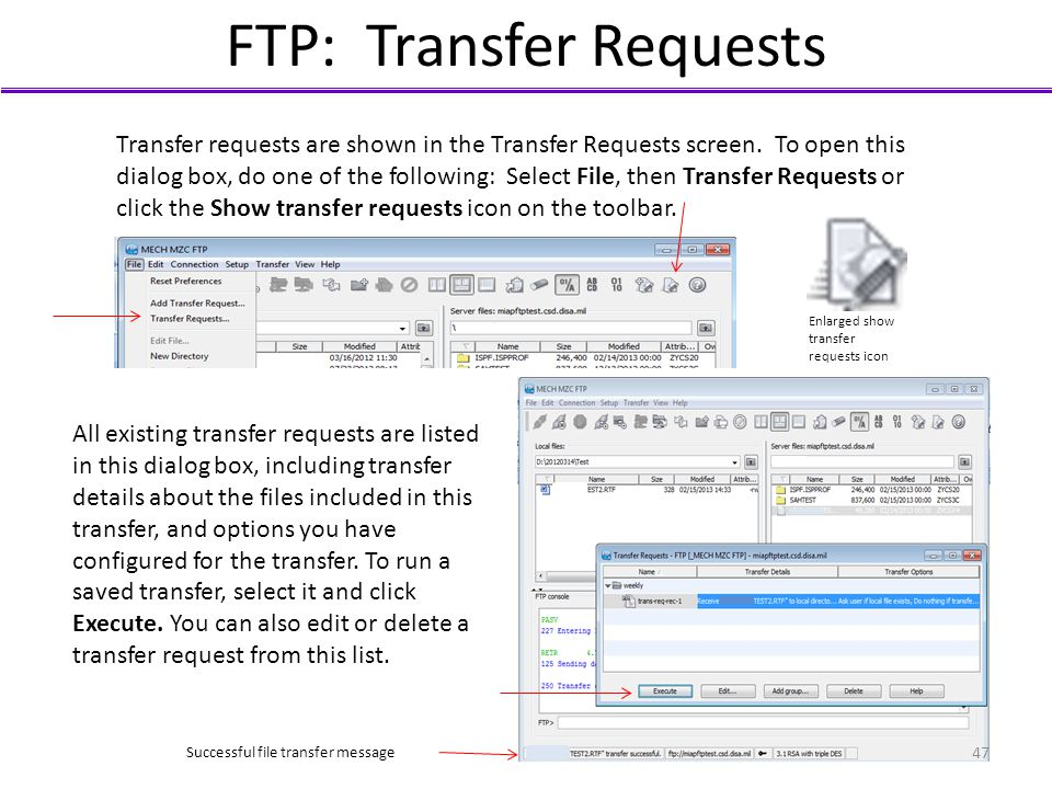 FTP: Transfer Requests