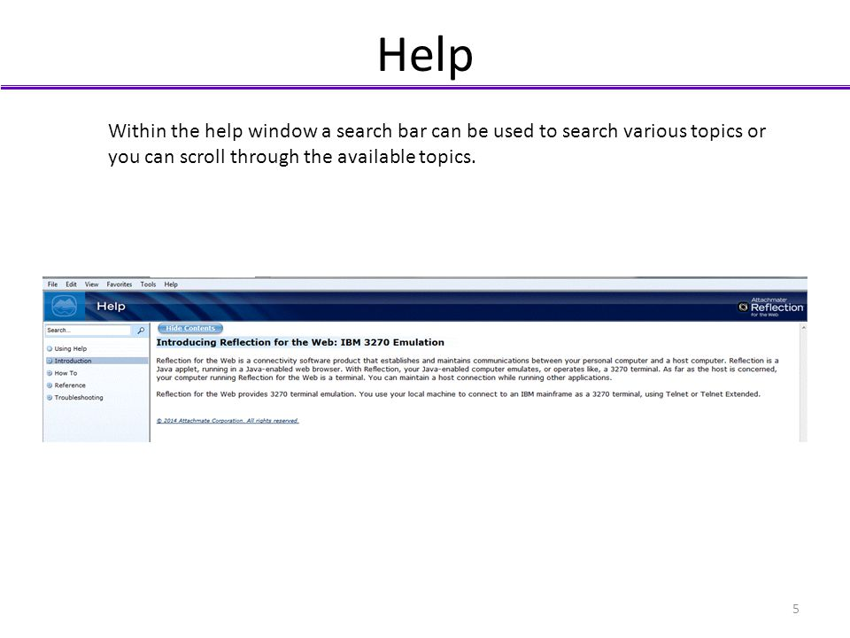 Help Within the help window a search bar can be used to search various topics or.