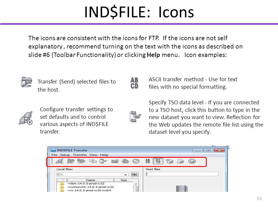 IND$FILE: Icons