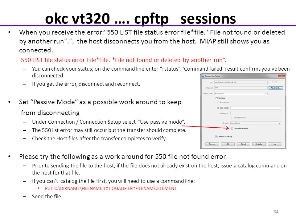 okc vt320 …. cpftp sessions