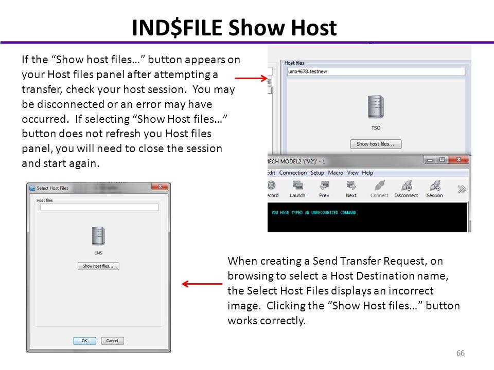 IND$FILE Show Host