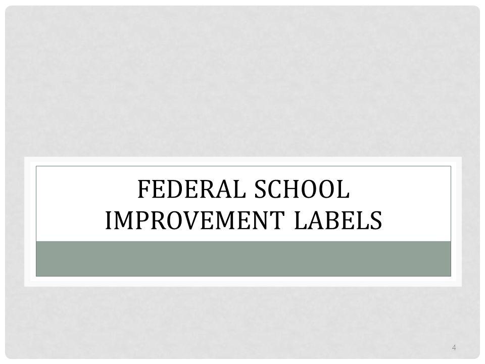 Federal School Improvement Labels