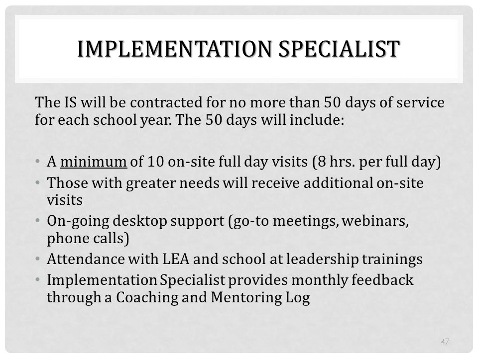 Implementation Specialist