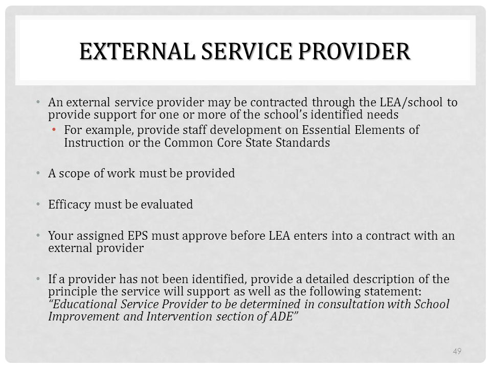 External Service Provider