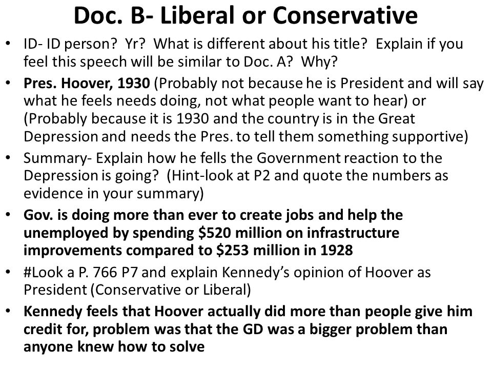 Doc. B- Liberal or Conservative