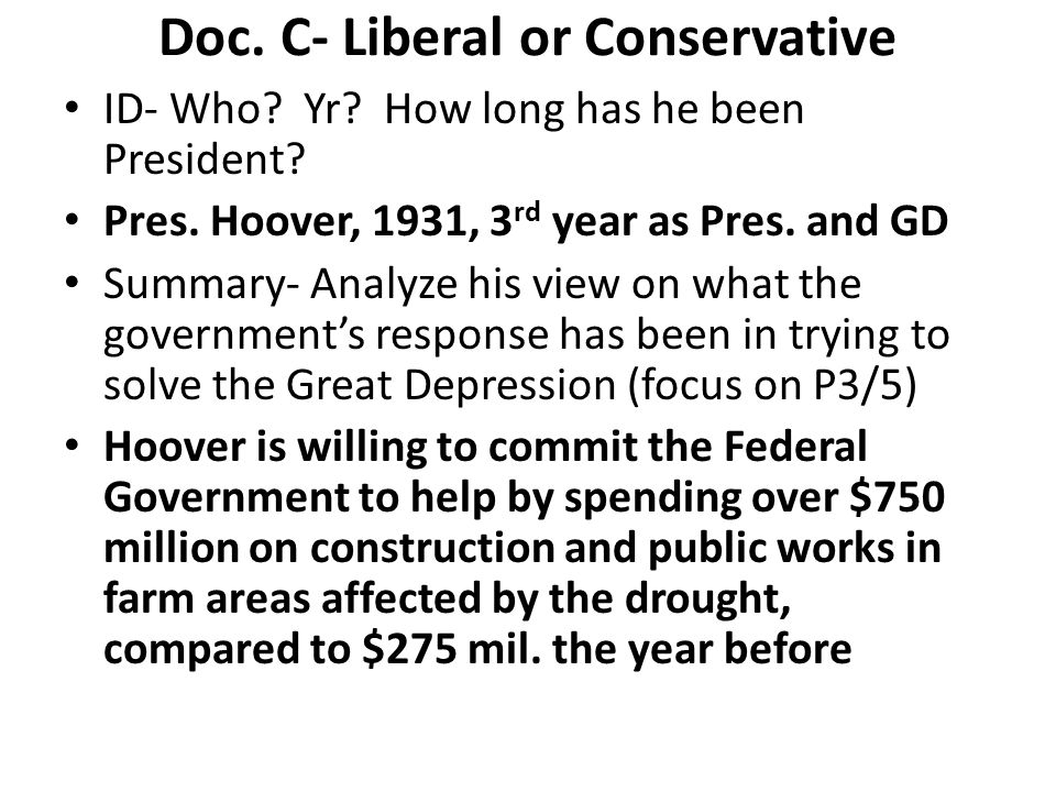Doc. C- Liberal or Conservative
