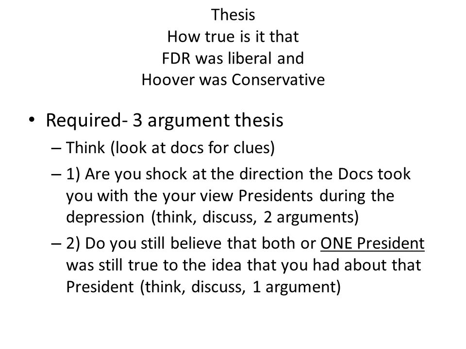 Thesis How true is it that FDR was liberal and Hoover was Conservative