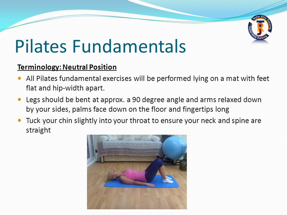 Pilates Fundamentals Terminology: Neutral Position