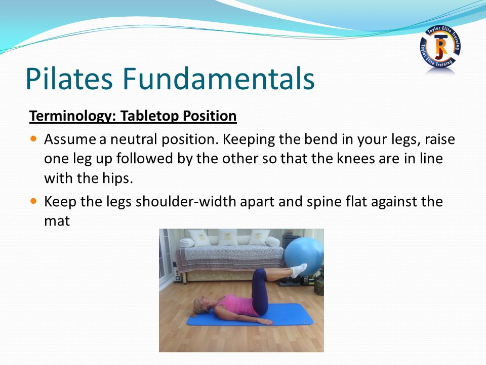 Pilates Fundamentals Terminology: Tabletop Position