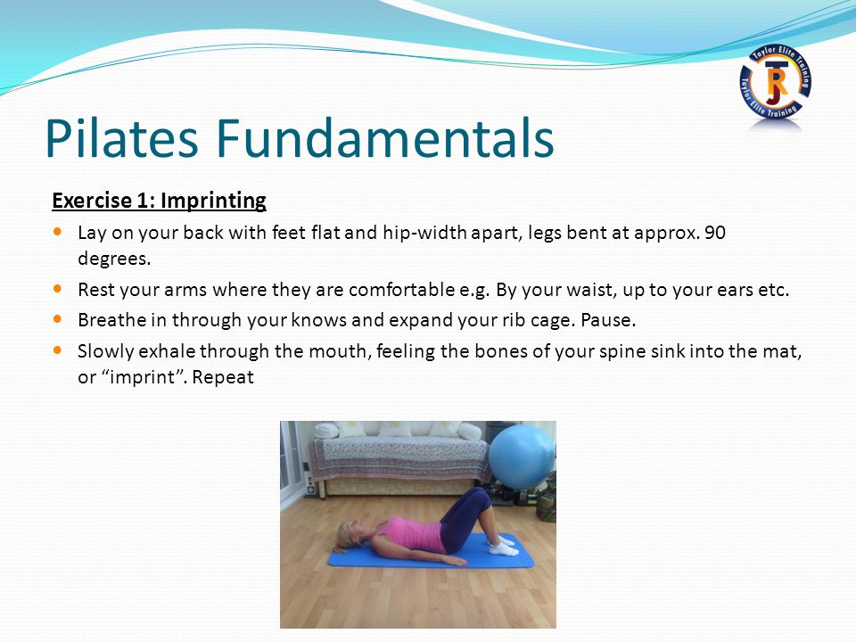 Pilates Fundamentals Exercise 1: Imprinting